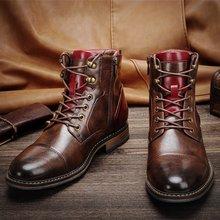 7 ~ 13 bottes hommes marque 2020 mode confortable bottes cuir # AL603C4