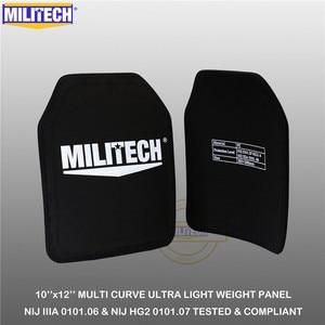 "Image 3 - MILITECH Ballistic Plate 10"" x 12"" Pair NIJ IIIA 3A 0101.06&NIJ 0101.07 HG2 Ultra Light Weight UHMWPE Bulletproof Backpack Panel"