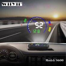 OBDHUD S600 araba Head Up ekran araba hız cam projektör OBD arayüzü HUD RPM voltaj su sıcaklığı yakıt tüketim