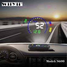 Obdhud S600 車のヘッドアップ速度フロントガラスプロジェクターobdインターフェースhud rpm電圧水温燃料cosumption