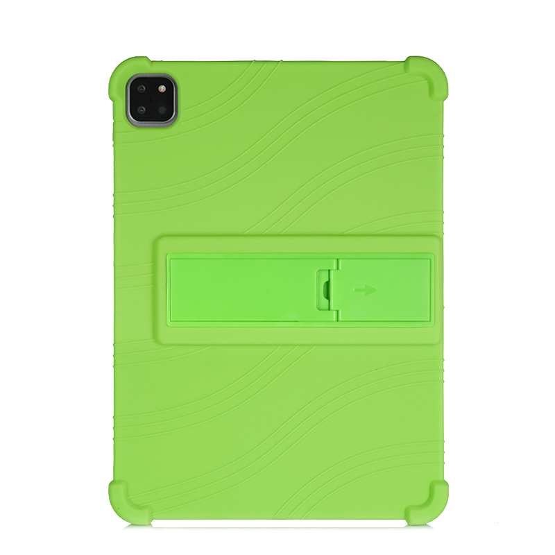 Green Green SZOXBY For iPad Pro 11 Case 2020 Flip Silicone Soft Cover For iPad Pro 11 2nd