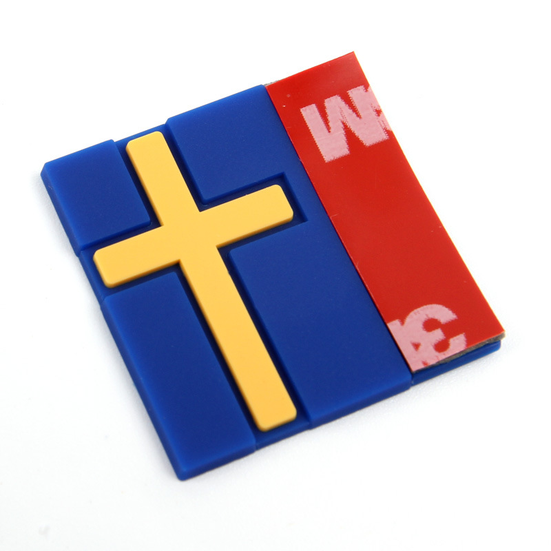 Sweden Flag Rubber For Volvo Car Modified Car 3D Sticker Front Grille Trunk Lid MarkedRefit