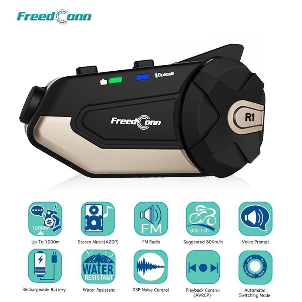 FreedConn R1 Motorrad Intercom Helm Bluetooth Headset Intercom 1080P HD Video Wifi Recorder Kamera Intercomunicador