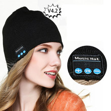 Winter Warme Bluetooth Gestrickte Hut Mit Bluetooth Control Panel Wireless Bluetooth Headset Für Outdoor Sport Hören Musik(China)