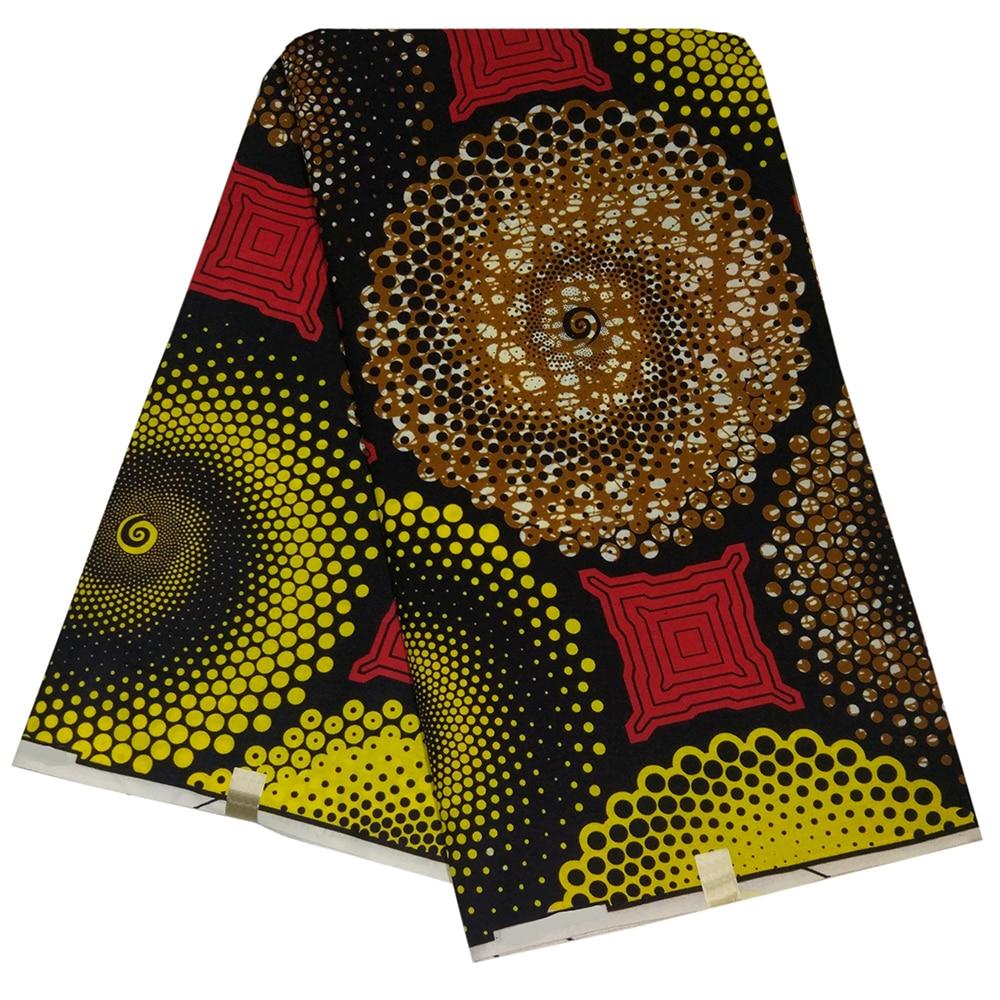 6yards Print Fabric Kente Fabric Ankara African Wax Prints Polyester Wax Fabric For Dress