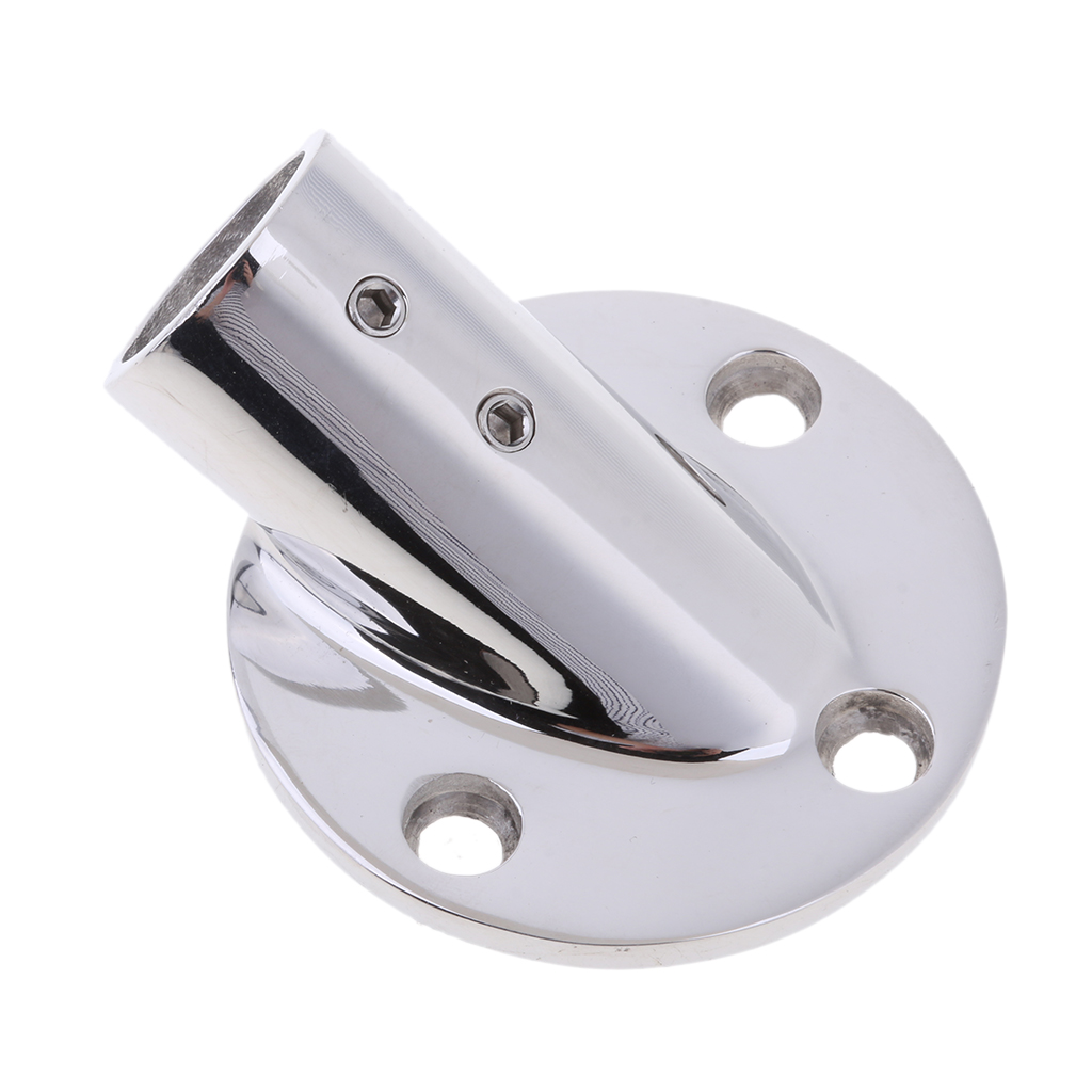 Boat Hand Rail Fitting 30 Degree Round Base 316 Stainless Steel