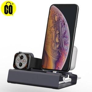 Image 1 - 電話ホルダー 3 で 1 充電ドックホルダーiphone × xr最大 8 7 6 アルミ充電ドックスタンドapple腕時計airpods