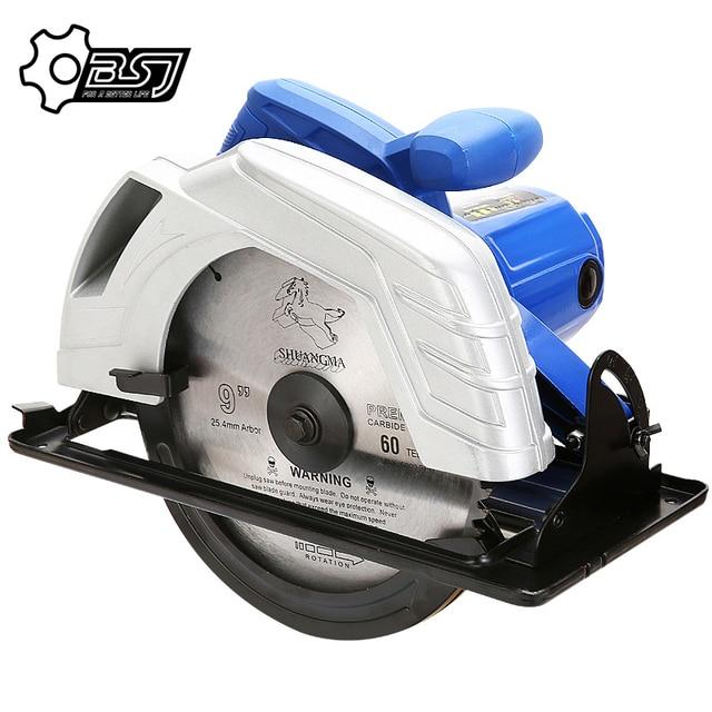 Electric Woodworking Circular Saw 1500W 7 inch 60mm Multi function Cutting Machine Household Small Flip Saw Circular