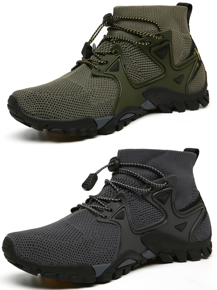 Mens Sneakers Hiking-Shoes Trekking Outdoor-Trail Mountain Climbing Male Breathable Summer