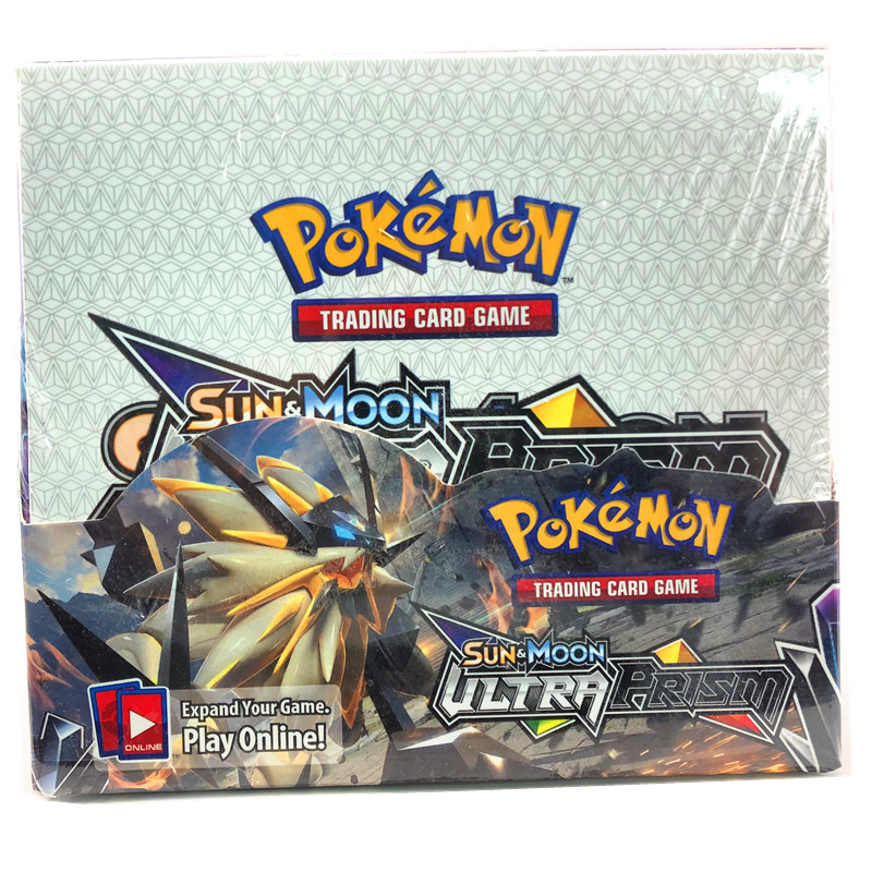 324pcs Pokemones Cards  Ultra Prism Edition In English Version Booster Box Collectible Trading Cards Game For Kids