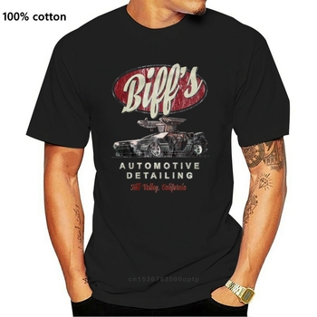 Men Tshirt Biffs Automotive Detailing Back to the Future Zurck in Die Zukunft Doc image