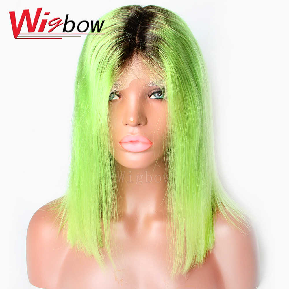 Mongolian 613 Honey Blonde Color Remy  1B 27 30 Blue Grey Orange Red Pink Purple  Yellow Human Hair straight wigs