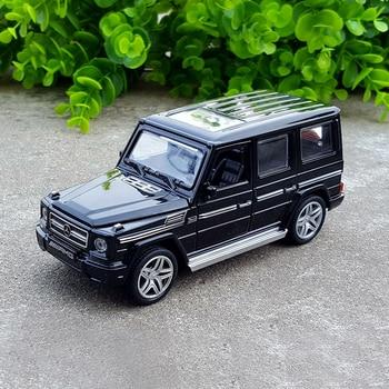 1:32, mercedes-benz G65 SUV, modelo de aleación, coche de juguete con luz de sonido extraíble para Benz G65 SUV Jeep AMG