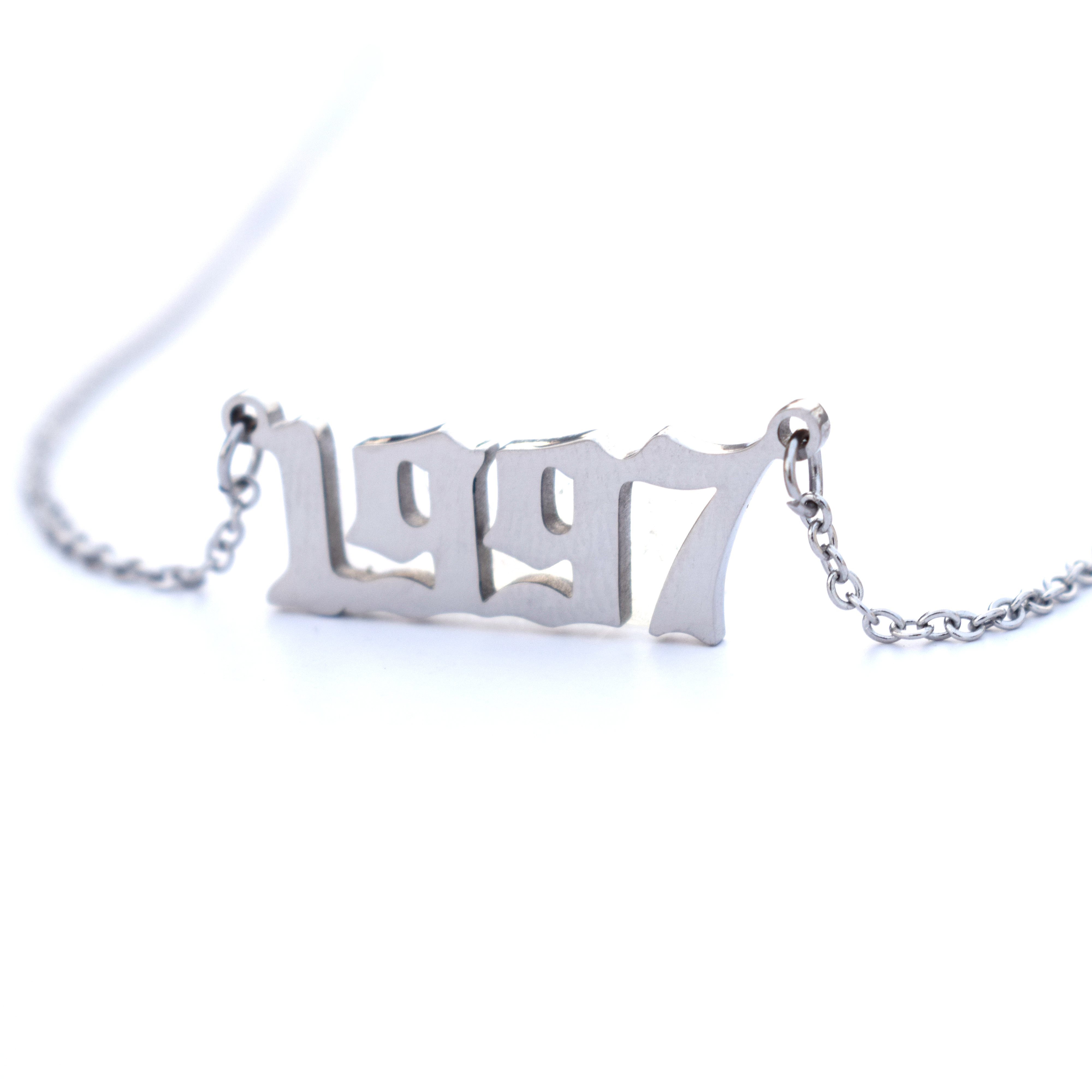 Necklaces Women 1991 Jewelry-Year Custom Birthday-Gift English-Number 1996 1998 1993