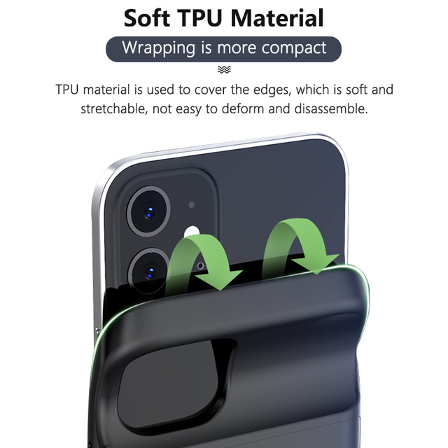 Portable Battery Charger Case for iPhone 12 pro Max 12 mini 12 Power Bank Case External Battery Cover for iPhone 12 12 pro Max 5