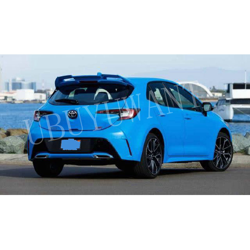 For <font><b>Toyota</b></font> <font><b>Corolla</b></font> Hatchback <font><b>Spoiler</b></font> <font><b>2019</b></font> <font><b>Spoiler</b></font> with Light High Quality ABS Material Car Rear Wing Primer Color <font><b>Spoiler</b></font> image