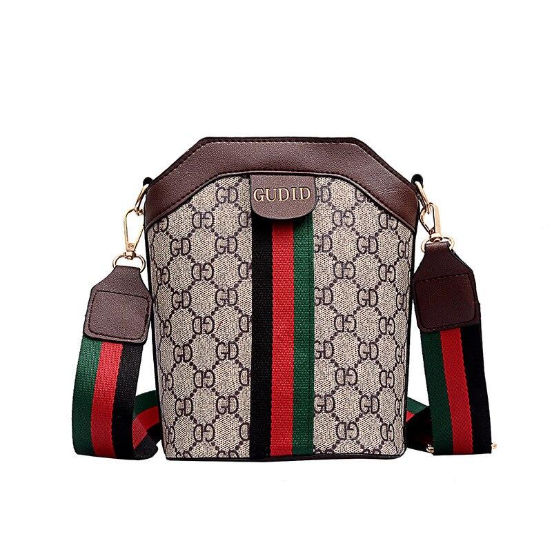 New Fashion Printing Small Bag Old Flower Women's Bag Rainbow Shoulder Bucket Bag Single Shoulder Bag Women Bags For Wormen 2019