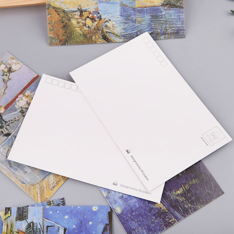 30 Sheets Famous Person Paintings Retro Vintage Postcard Christmas Gift Card Wish Poster Cards  4