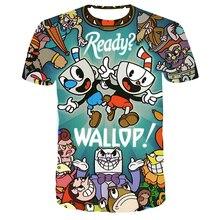 3D Cuphead Mugman Kids T-Shirt Print Girls Funny Clothes Boys Children Tops Kids Clothes Baby Tshirts Men Women Clothing T-shirt