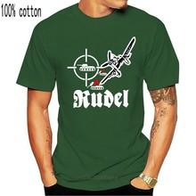 2019 camisa de algodão de verão rudel hans ulrich stuka oberst luftwaffe ju 87g 37cm panzerabwe-t camisa #17543 moda camiseta