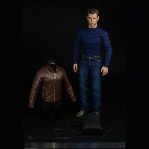 1/6 весы Matt Damon мужской костюм агент кожаная куртка рубашка джинсы брюки аксессуары комплект одежды 12 дюймов цифры