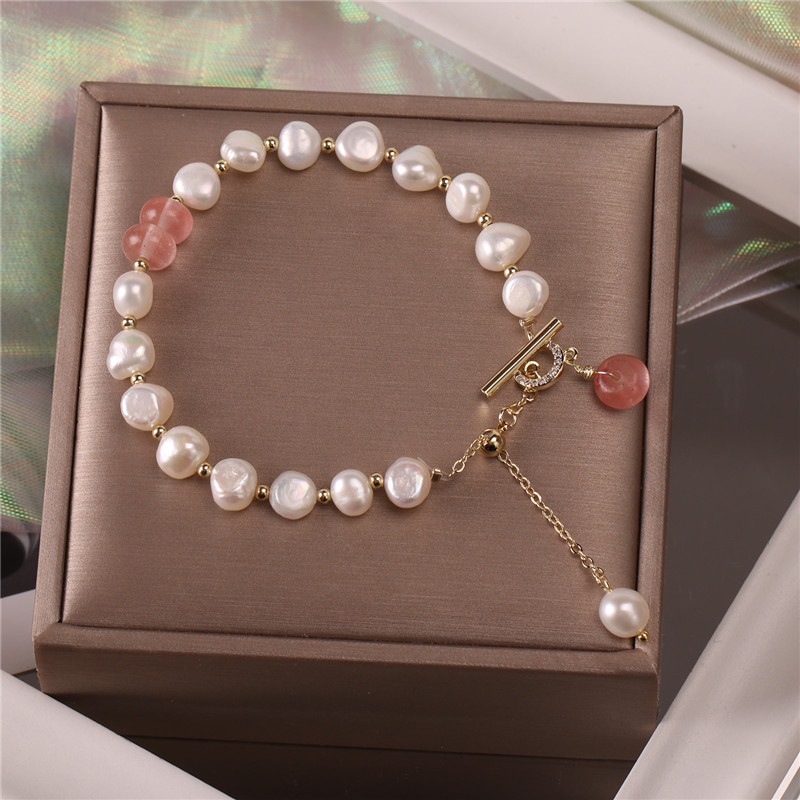 Classic Fashion Natural Stone Pearl Pendant Bracelet for Woman Exquisite New Lucky Cuff Bracelet Anniversary Gift Luxury Jewelry 6