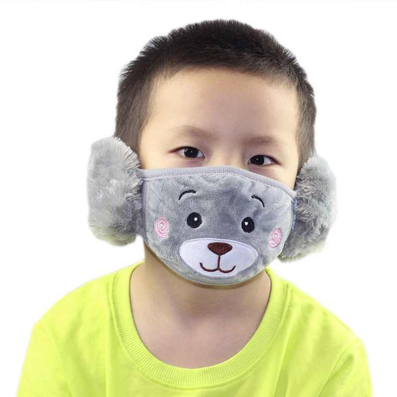 Anti-Pollution PM2.5 Children's Masks Dust Mouth Masks Washable Reusable Masks Cotton Allergy / Asthma / Travel Masks