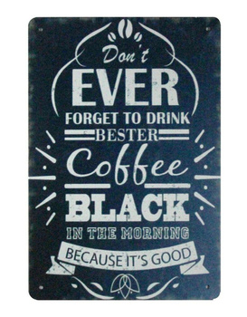 coffee shops wall restaurant pub Drink Bester Coffee tin metal sign image