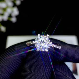 Image 5 - Moissanite disegno di Personalità Nuovo anello, 925 Sterling silver, bel colore, scintillante, 1 carat 2 Carati di Diamanti D VVS1