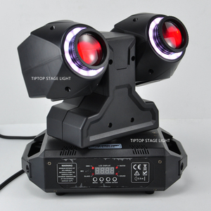 Image 2 - TIPTOP 2 X 30W New Club Beam Led Moving Head Light DMX512 Control Dual 30W LED Tyanshine with Halo RGB 3IN1 Hanging Clamp Hole