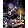 5D Гарри книга с совой Луна Набор для вышивания крестиком, с рисунком из мультфильмов, 3D алмазов картина XN011
