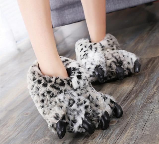 lhxyx Pantoufles Pattes Hiver Maison antid/érapantes Chaussures Pattes dours