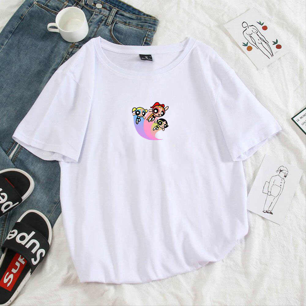 Kawaii Harajuku Vogue princesa mujeres camiseta Ullzang lindo Anime camiseta divertida 90s moda Tees Cartoon gráfico camiseta mujeres Tops