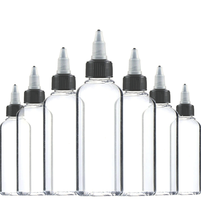 30Pcs 30ml 50ml 60ml 100ml 120ml Unicorn Bottle Twist Cap PET Plastic E Liquid Bottle With Twist Off Caps Dropper Bottles