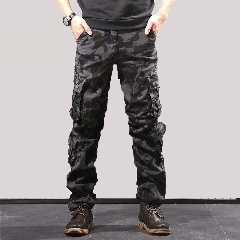 Camouflage Pants Men Casual Camo Cargo Trousers Hip-Hop Streetwear Multi-pocket Military Tactical Pants