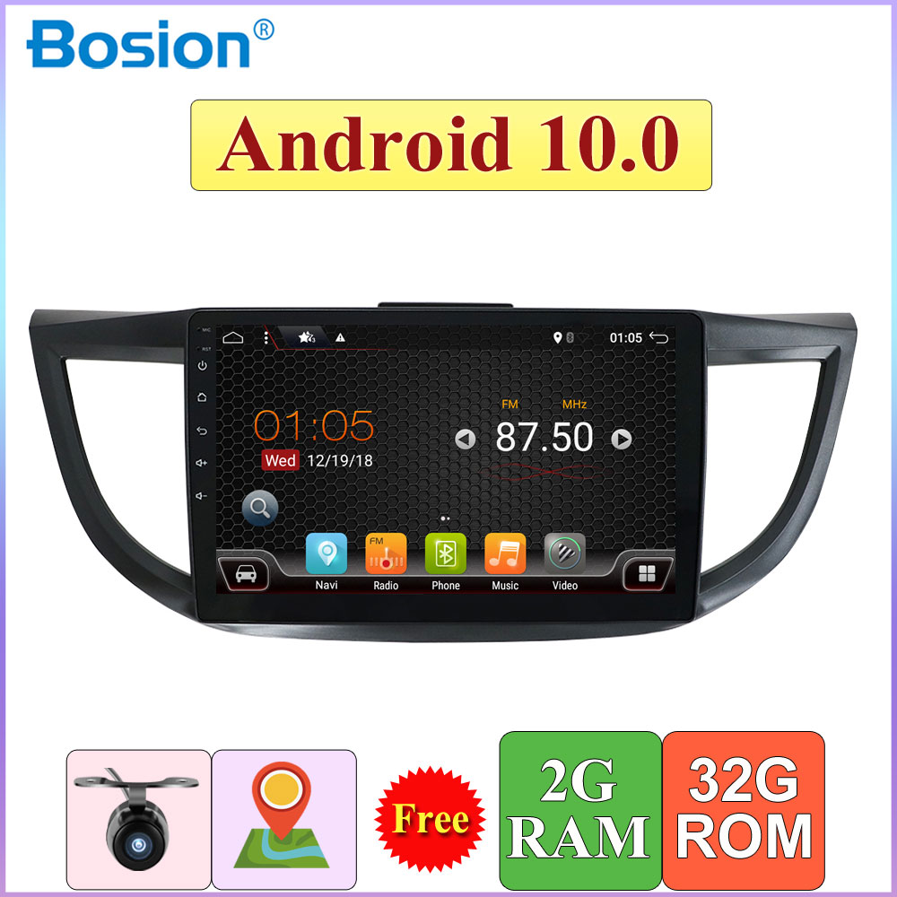 Car Radio Android 10.0 For <font><b>Honda</b></font> <font><b>CRV</b></font> <font><b>2012</b></font> GPS Navigation 2 Din Car <font><b>Multimedia</b></font> Player 2G RAM+32G ROM Free Camera+Canbus+Map image