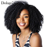 Afro Kinky Curly Clip In Human Hair Extensions 4B 4C Brazilian Human Natural Hair 3B 3C Bundles Clip Ins Dolago Remy Full Head