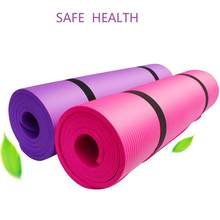1830*610*10mm TPE Thickess Soft Yoga Mat Pilates Mats Non Slip Carpet Mat Foldable for Body Building Tasteless Gymnastics Mats(China)