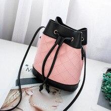 цена на fashion bucket bag Korea style simple women bag shoulder bag messenger bag