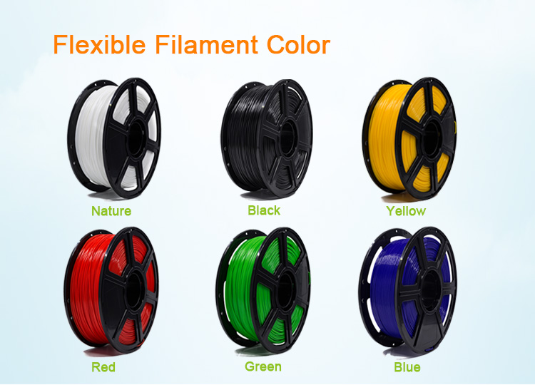 1kg/Roll Flexible TPU Filament for 3D Printer for Excellent Print Quality