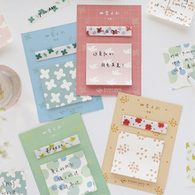 Buy 4pcs The color of season memo sticky note set Mini adhesive pad planner sticker Stationery item Office School supplies F766 directly from merchant!