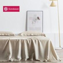 Sondeson Camel Luxury 100% Silk Flat Sheet 25 Momme Silk Queen King Beauty Healthy Skin Bed Sheet Pillowcase Free Shipping 3PCS