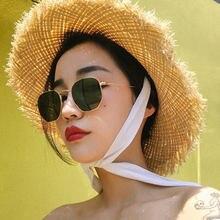 Солнцезащитные очки в металлической оправе женские классические
