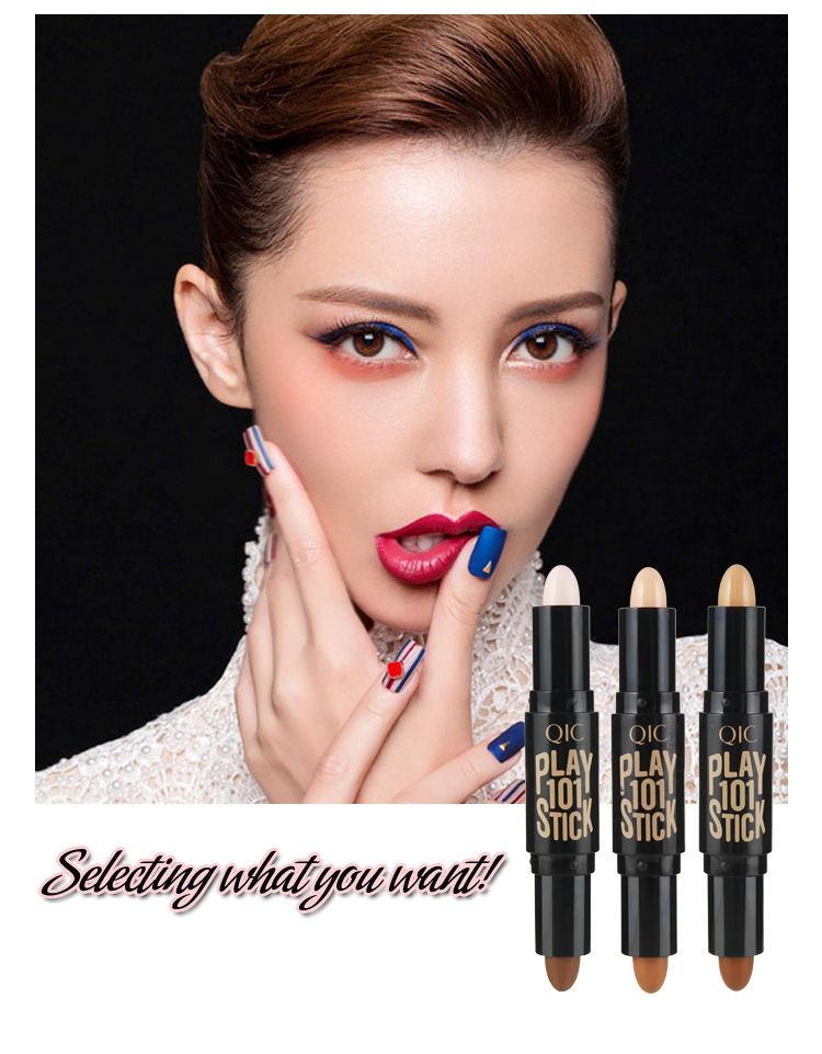 Хайлайтер двухсторонний 2 в 1 консилер для лица контурирующие бронзаторы выделители ручка косметический 3D макияж корректор контурный Стик