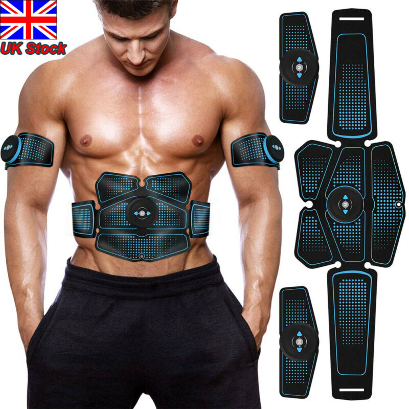 Electric Muscle Toner EMS Machine Wireless Toning Belt Simulation Fat Burner