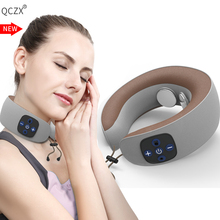 QCZX Travel U-shaped Pillow Portable Waist Shoulder Electric Massager PillowElectric Massage Car Neck Guard Physiotherapy D30
