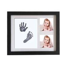 Baby Photo frame DIY handprint Imprint Air Drying Soft Clay Footprint Kids Casting Parent-child hand inkpad fingerprint(China)