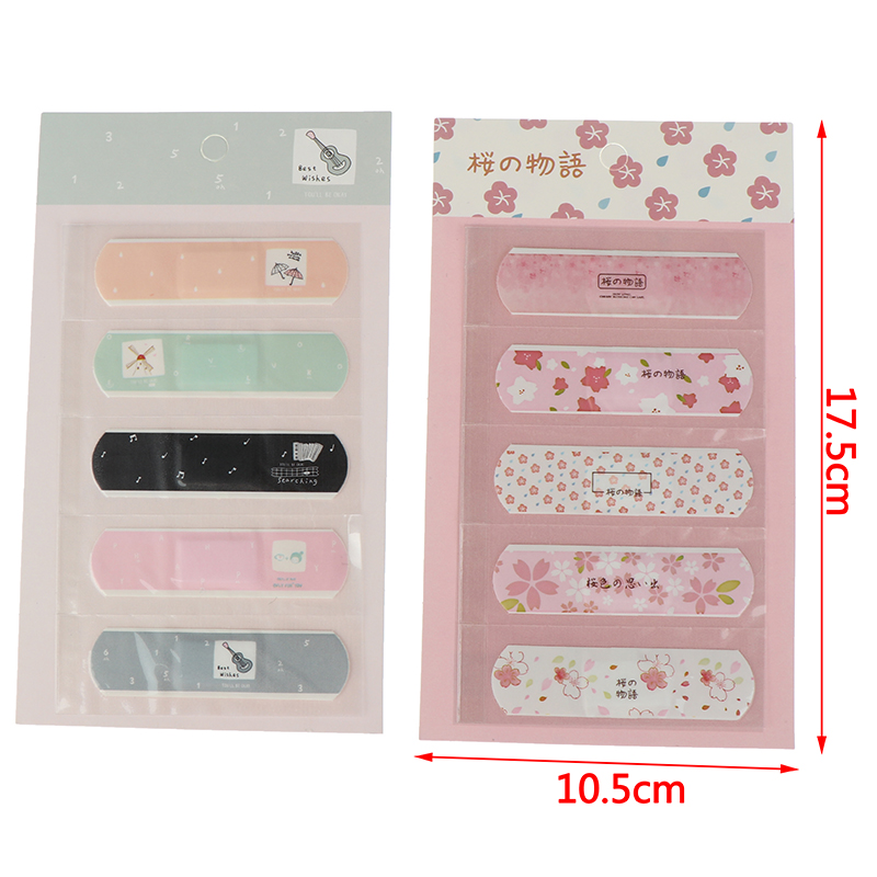 5Sheets/set Waterproof Cute Band Aid Disposable Wound Sticker First Aid Adhesive Bandages Wound Plaster Kits