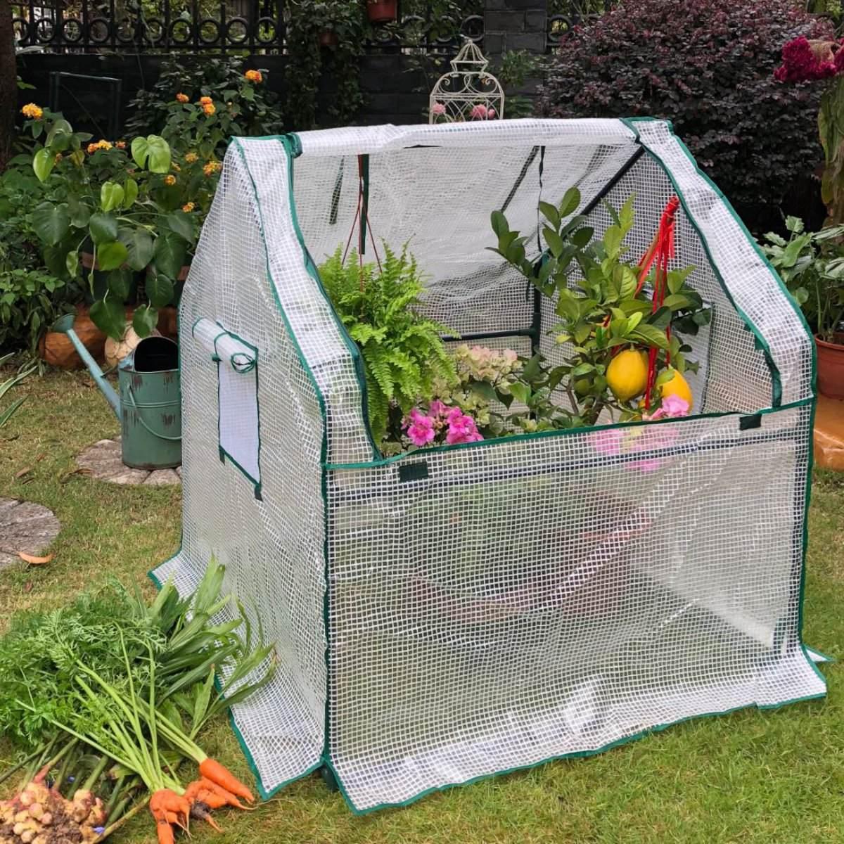 Mini Greenhouse 90x90x90cm Home Outdoor Flowers Plants Gardening Room Winter Warm Shelter Shade Balcony Garden Greenhouse Kit