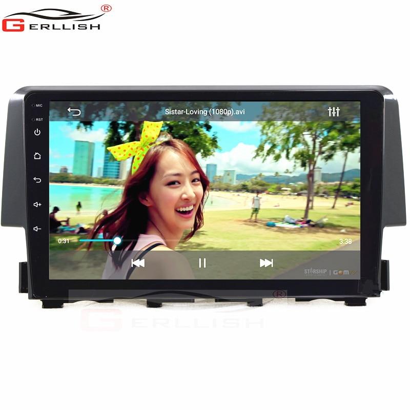 android автомобильный gps-навигация, радио, стерео dvd-плеер для Honda Civic 2016-2019 с Bluetooth встроенной ка
